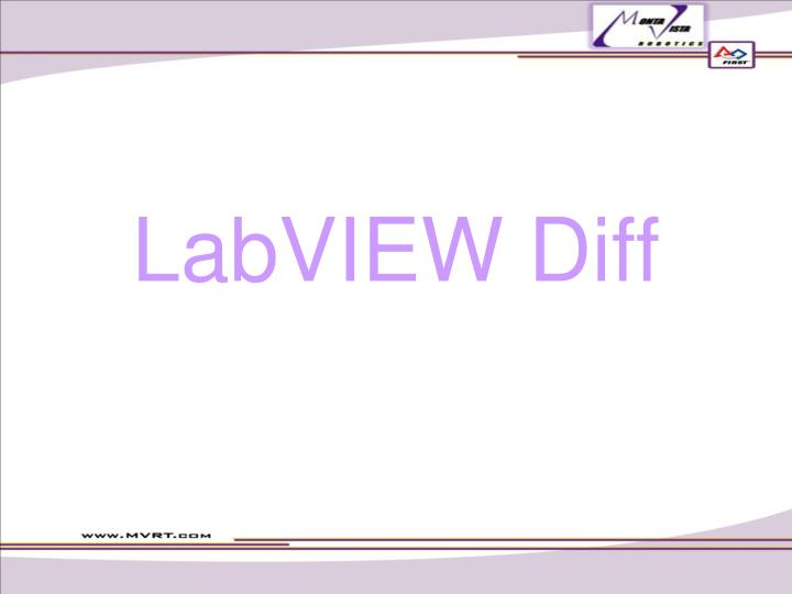 LabVIEW Diff