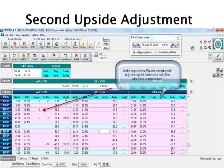Second Upside Adjustment