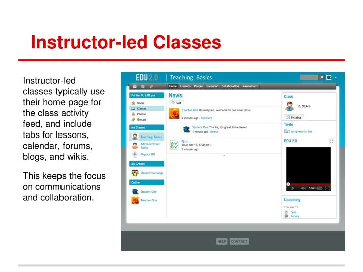 Instructor-led Classes