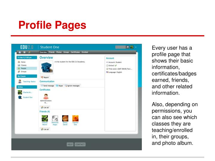 Profile Pages