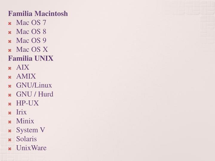 Familia Macintosh