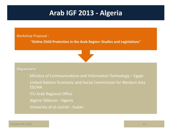 Arab IGF 2013 - Algeria