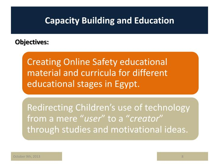 Capacity Building and Education