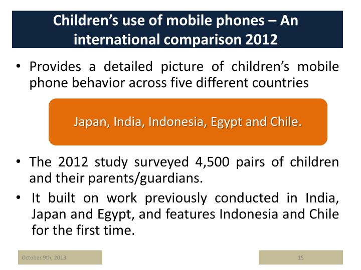 Children's use of mobile phones – An international comparison 2012