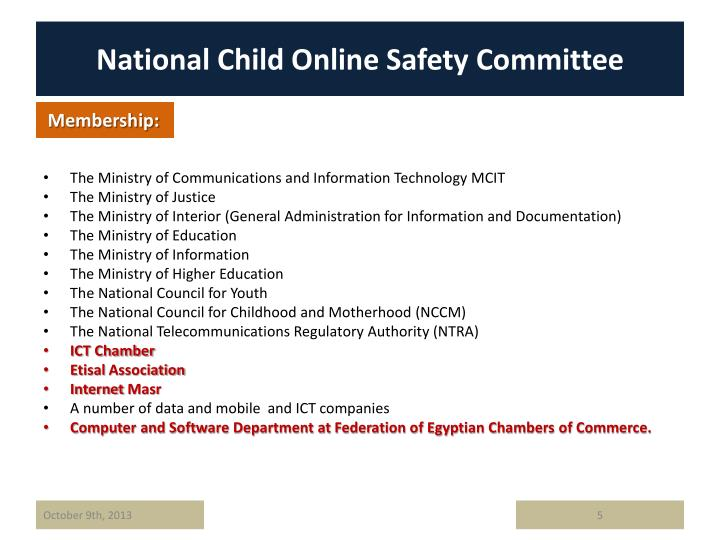 National Child Online Safety Committee