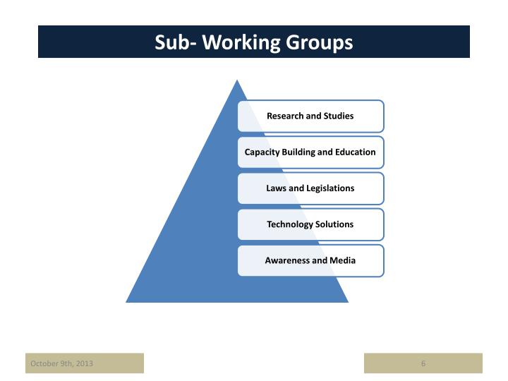 Sub- Working Groups