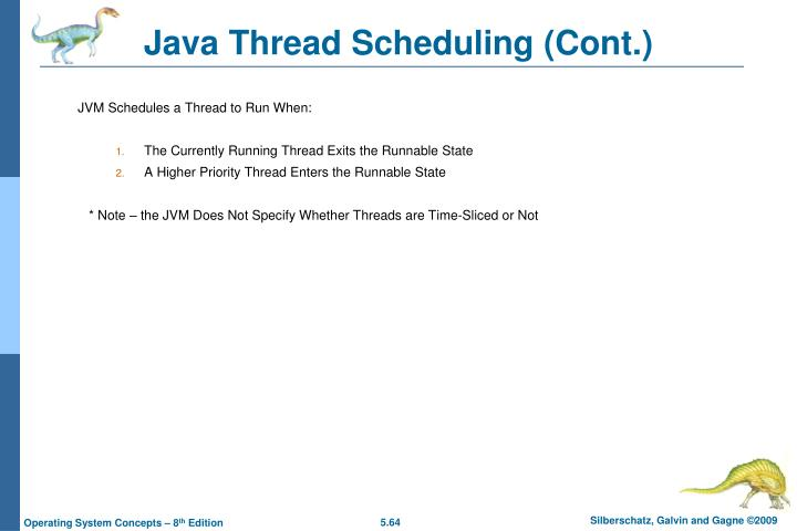 Java Thread Scheduling (Cont.)