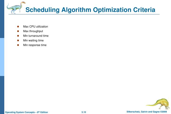 Scheduling Algorithm Optimization Criteria