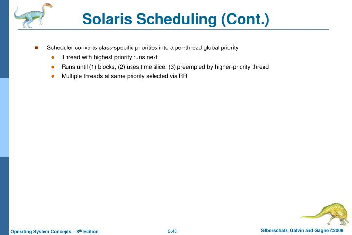 Solaris Scheduling (Cont.)