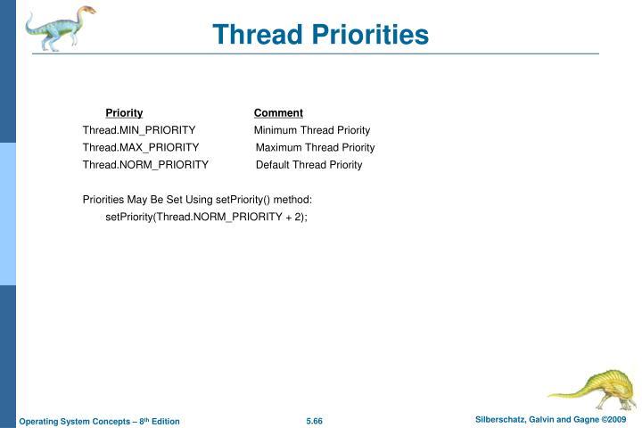 Thread Priorities