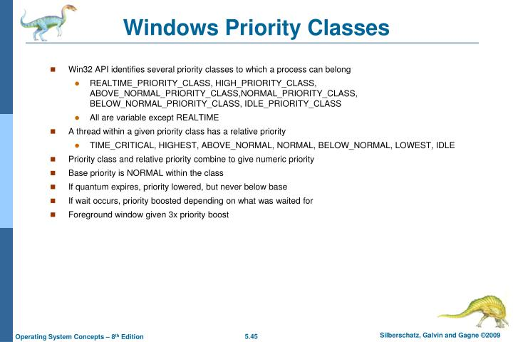 Windows Priority Classes