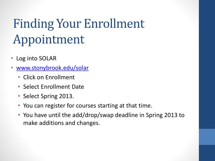 Finding Your Enrollment Appointment