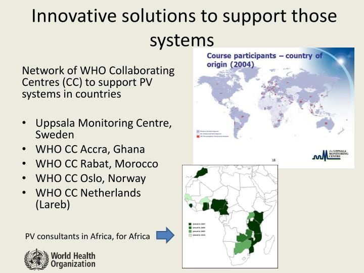 Innovative solutions to support those systems