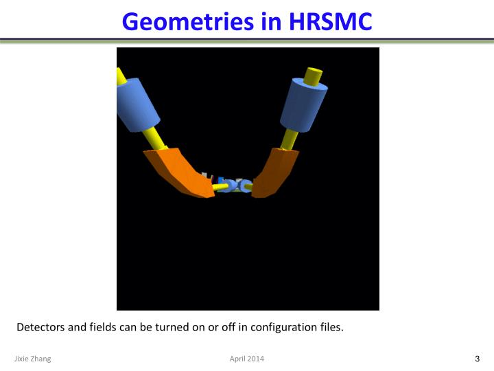 Geometries in hrsmc