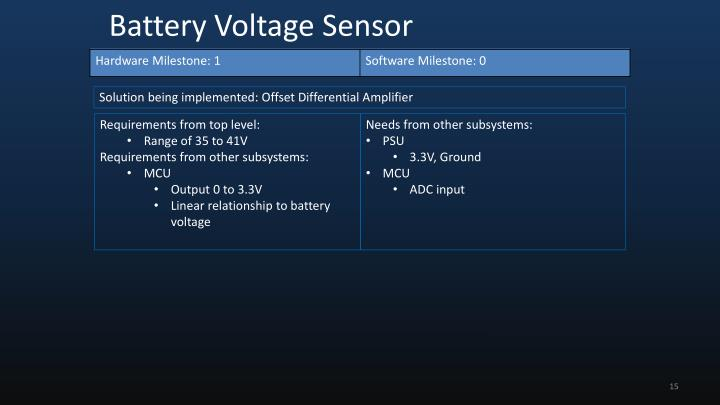 Solution being implemented: Offset Differential Amplifier