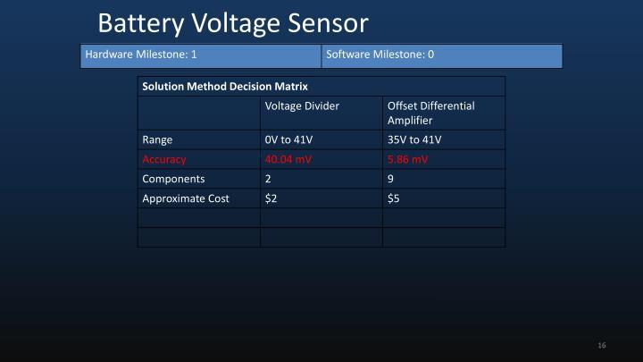 Battery Voltage Sensor