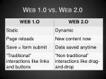 web 1 0 vs web 2 0