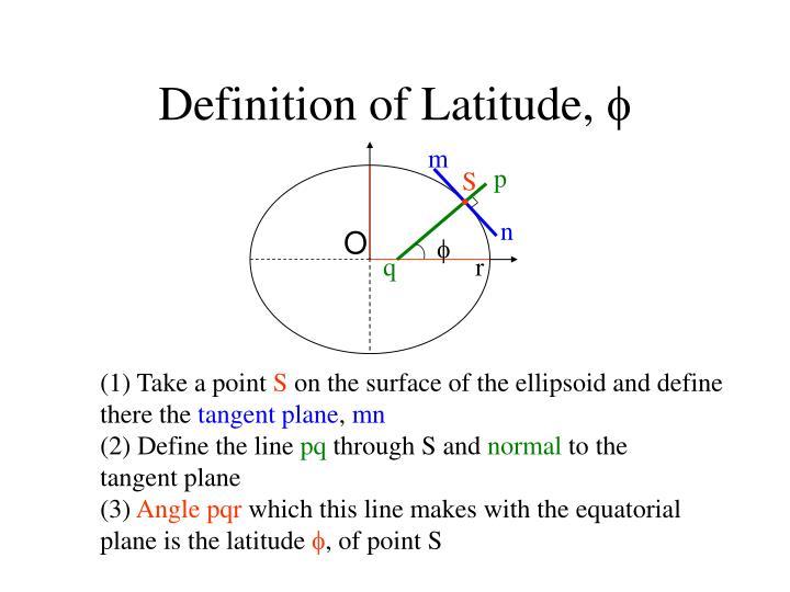 Definition of Latitude,