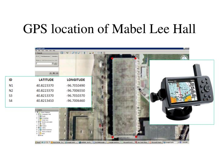 GPS location of Mabel Lee Hall