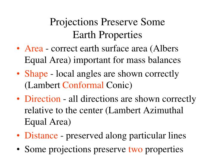 Projections Preserve Some
