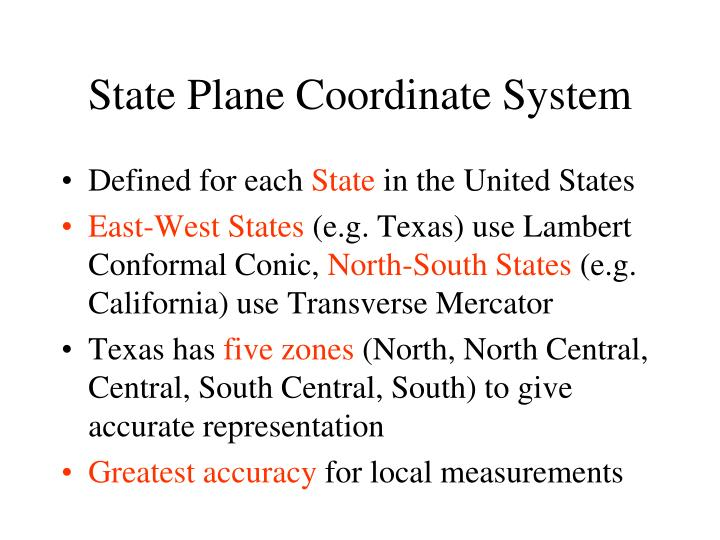 State Plane Coordinate System