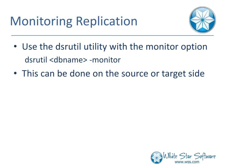 Monitoring Replication