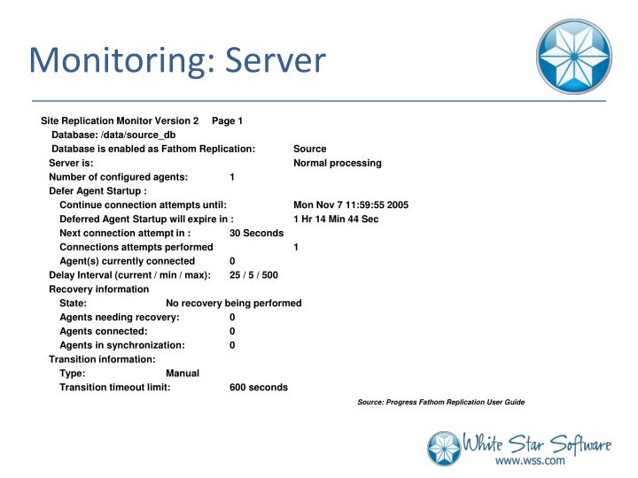 Monitoring: Server