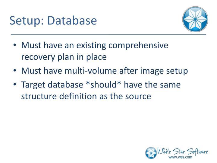 Setup: Database