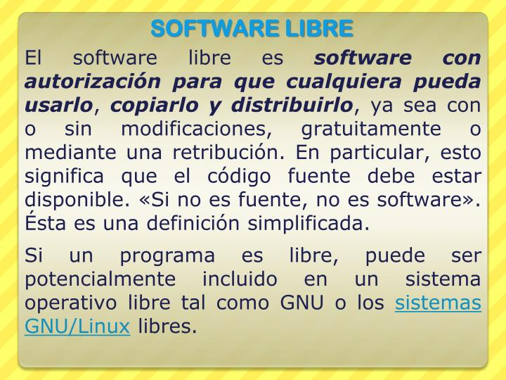 El software libre es