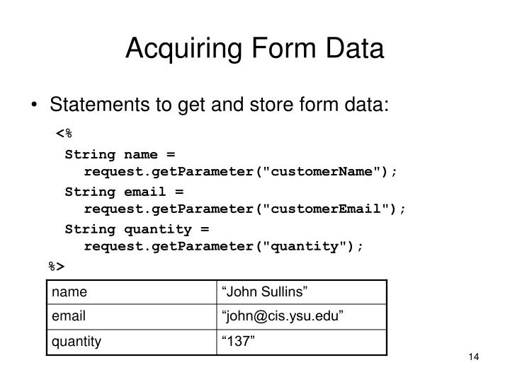 Acquiring Form Data