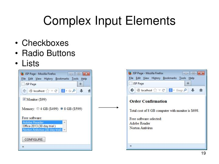 Complex Input Elements