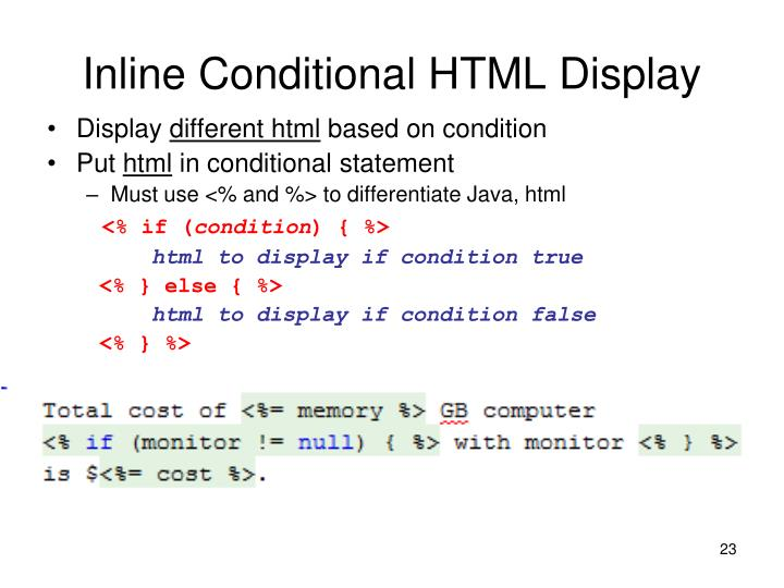Inline Conditional HTML Display