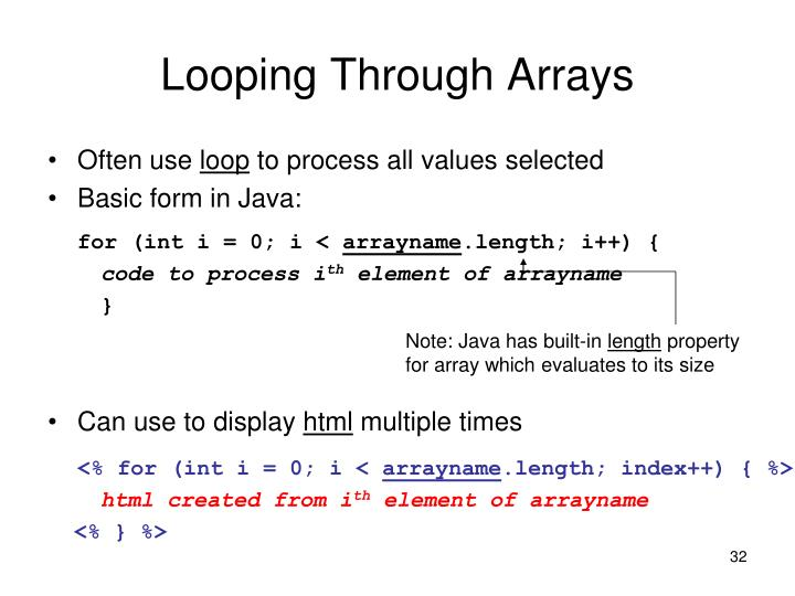 Looping Through Arrays