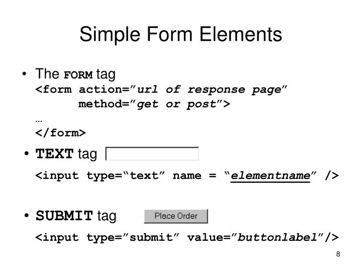 Simple Form Elements