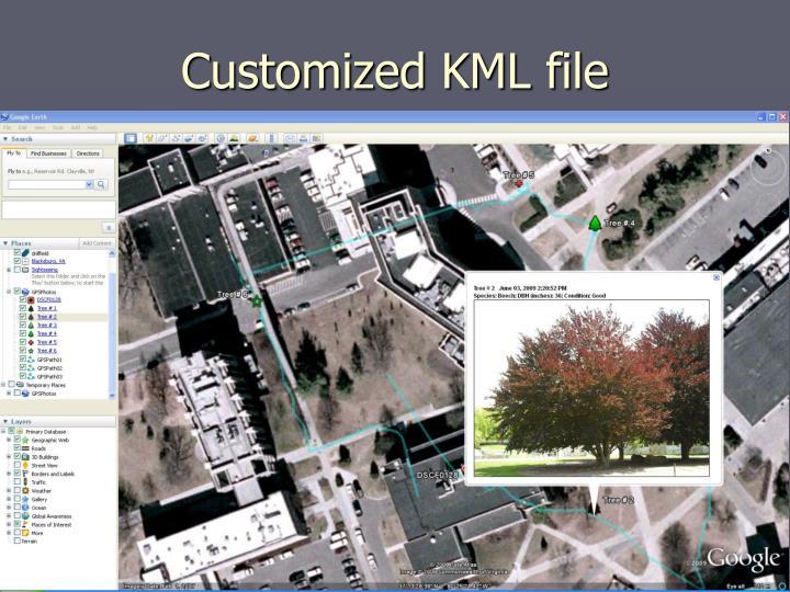 Customized KML file