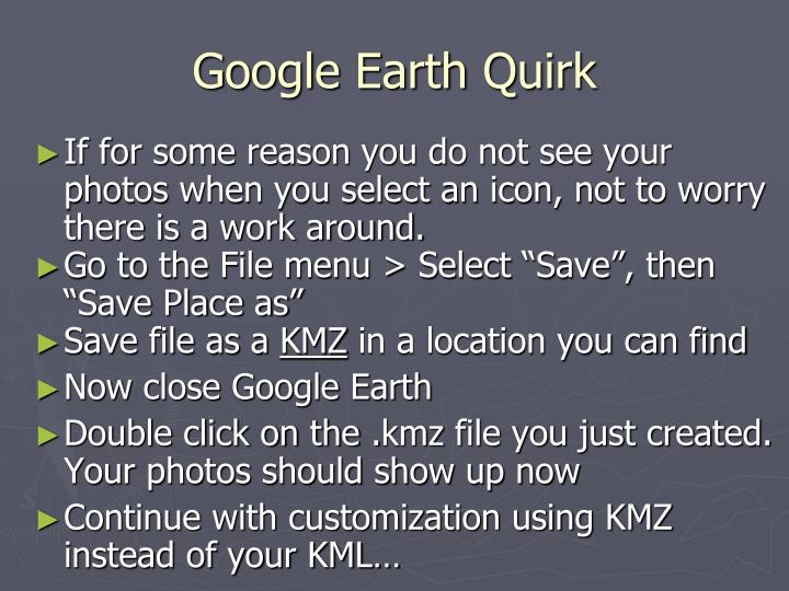 Google Earth Quirk