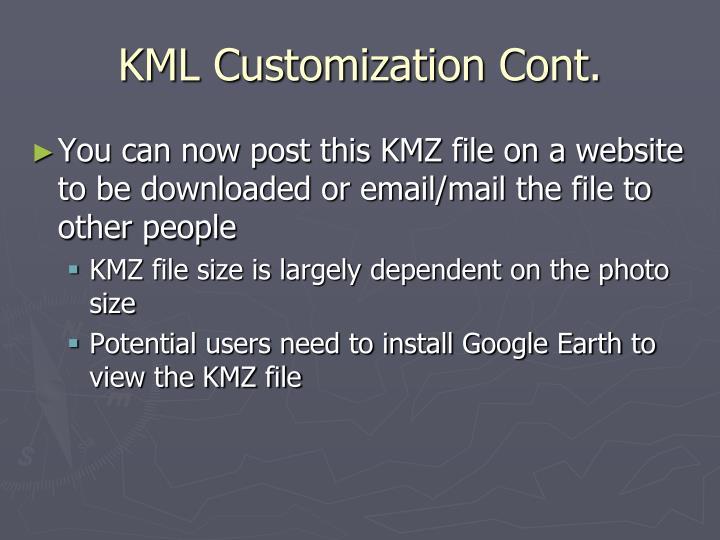 KML Customization Cont.