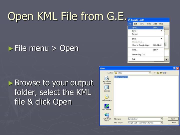 Open KML