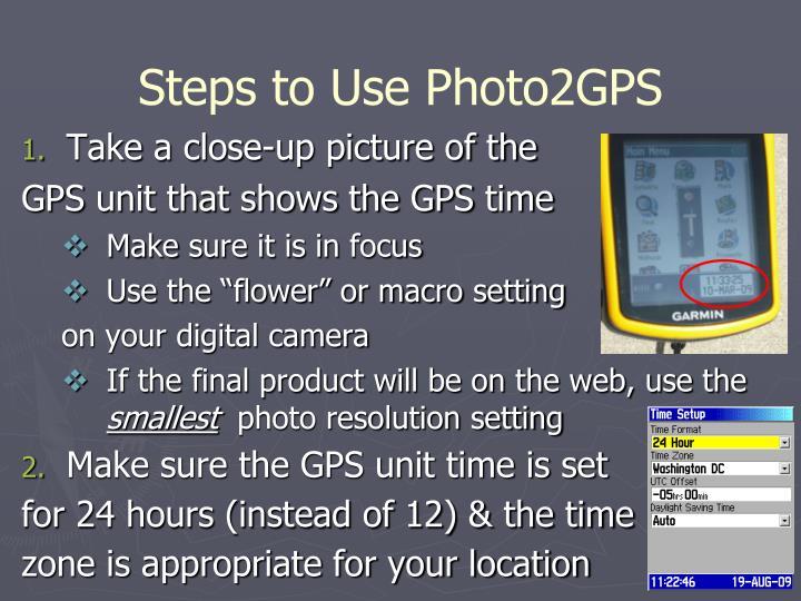 Steps to Use Photo2GPS