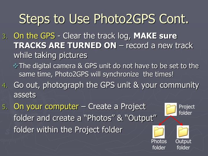 Steps to Use Photo2GPS Cont.