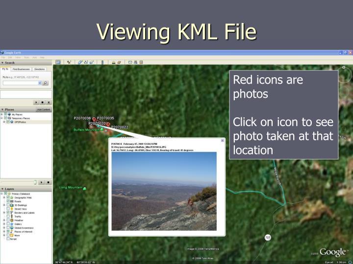 Viewing KML File