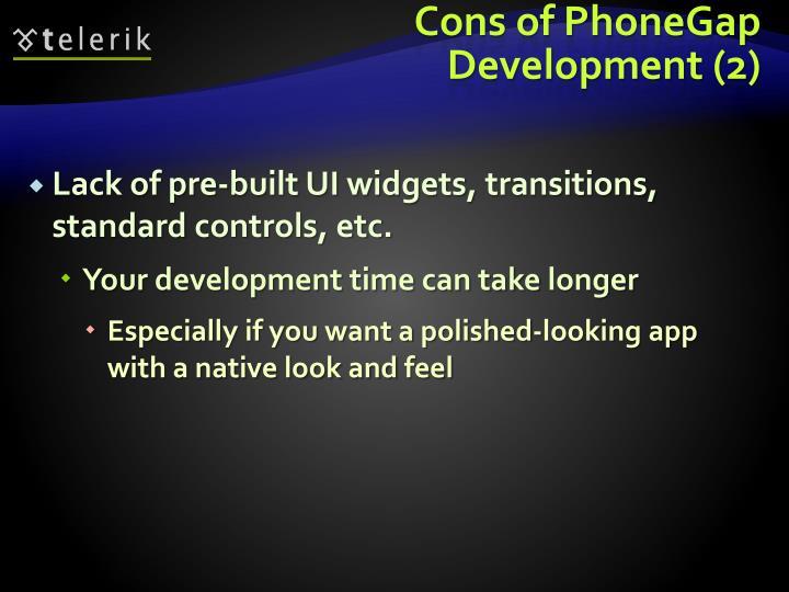 Cons of PhoneGap Development (2)