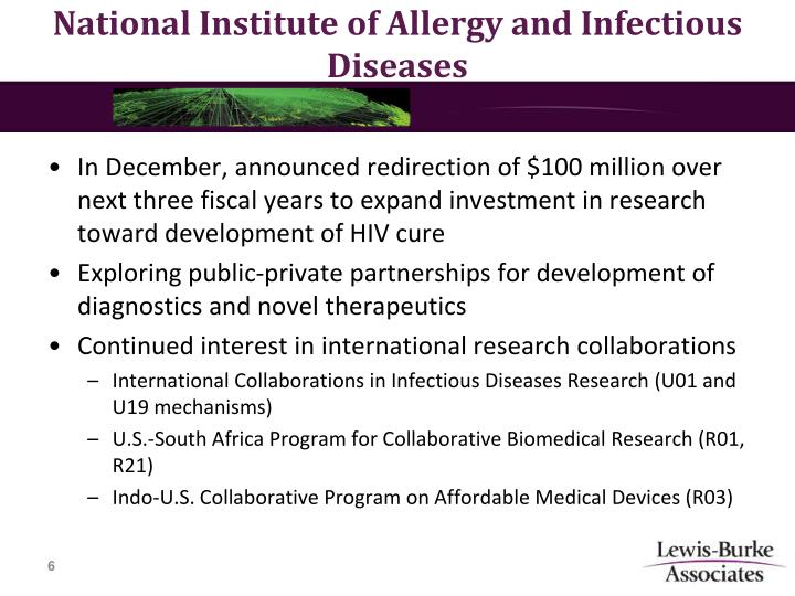 National Institute of Allergy and Infectious Diseases