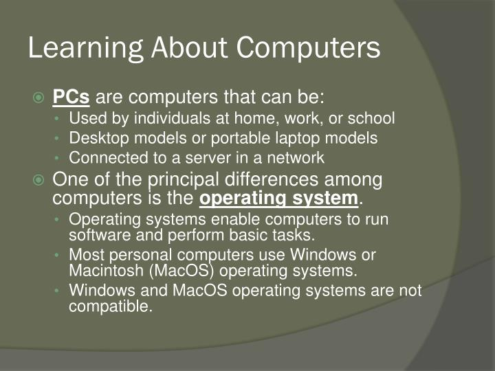 Learning About Computers