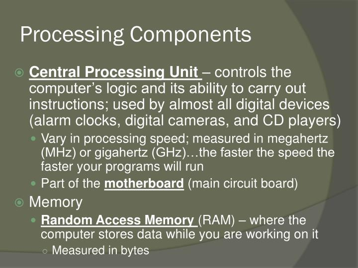 Processing Components