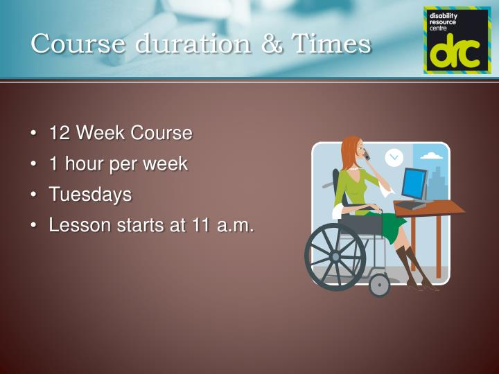 Course duration times