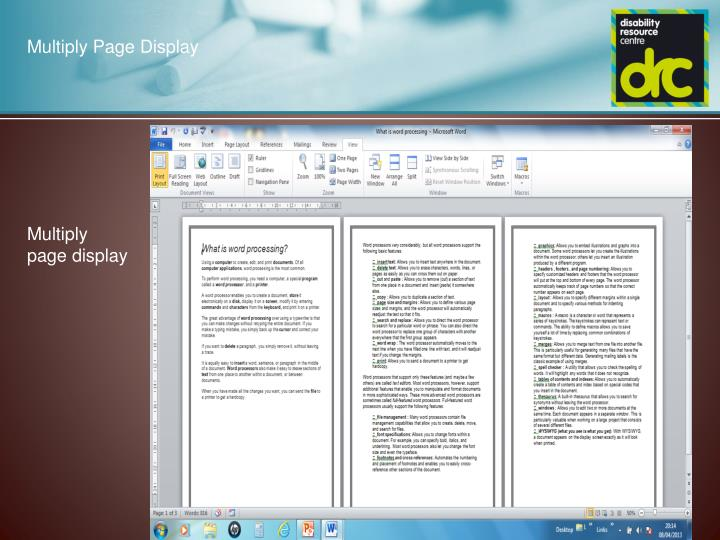 Multiply Page Display
