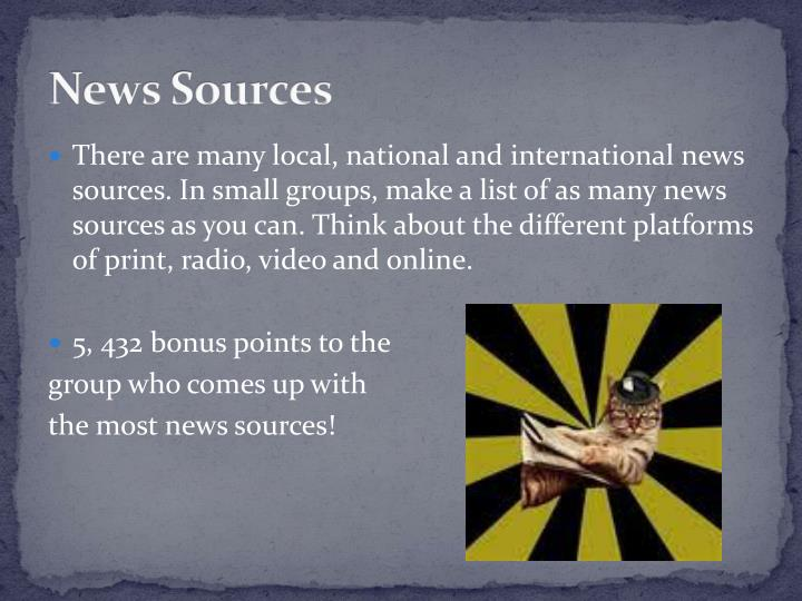 News Sources