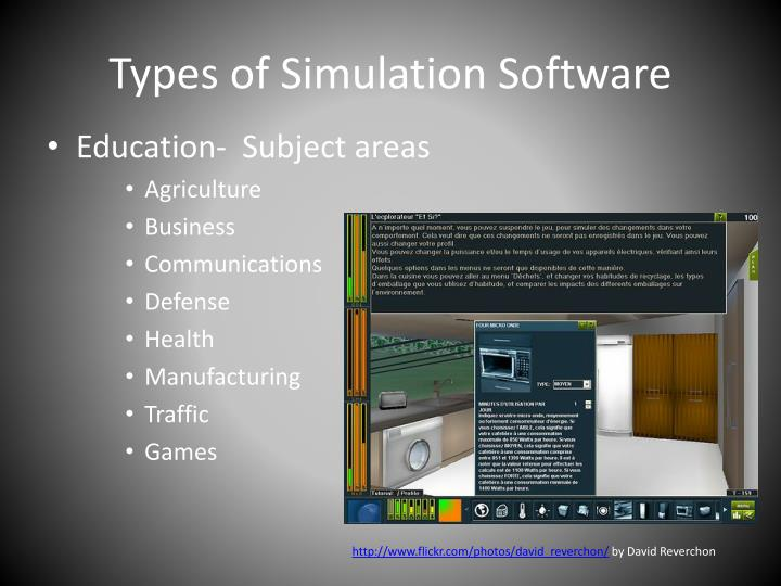 Types of simulation software