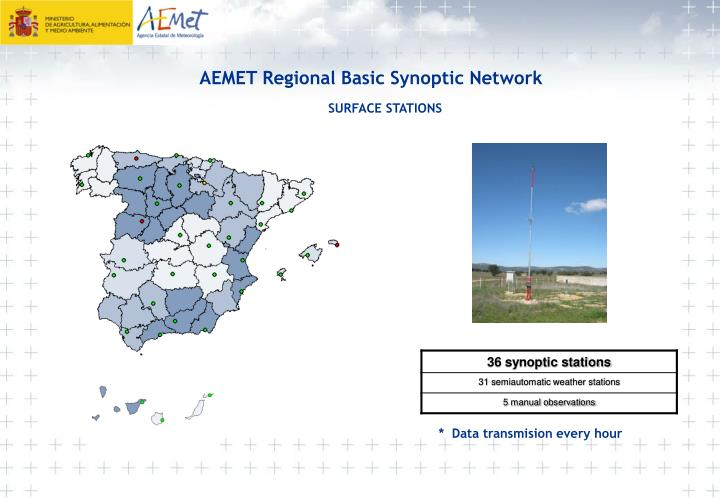 AEMET Regional Basic Synoptic Network
